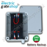 for use with any of our 24v electric gate kits. battery backup 24vdc .