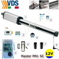 VDS Master PM1/SC 12V Solar Single Gate Kit for use with solar powered automation's
